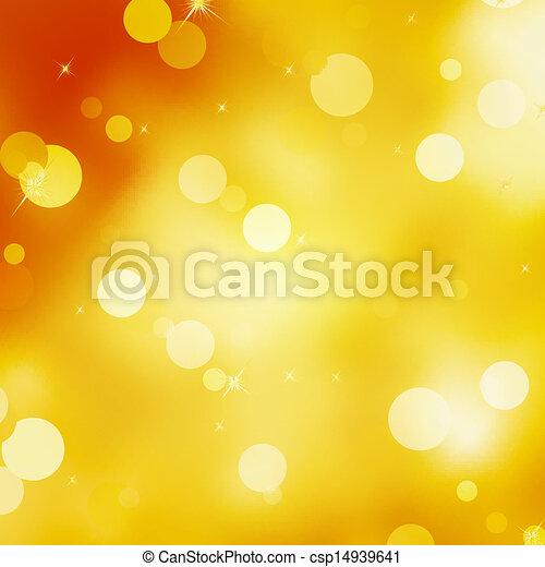 Glittery gold Christmas background. EPS 10 - csp14939641