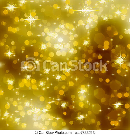 Glittery gold Christmas background. EPS 8 - csp7388213