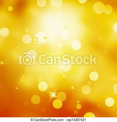 Glittery gold Christmas background. EPS 10 - csp14297421