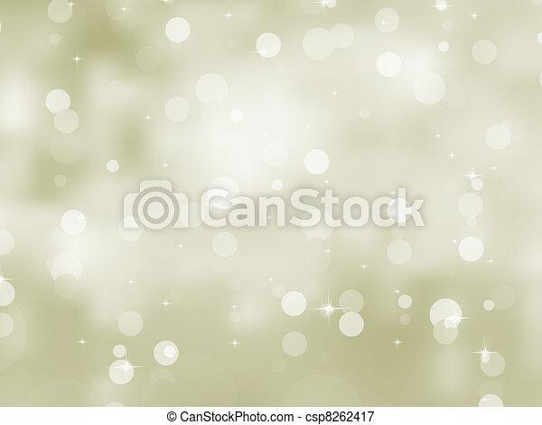Glittery gold Christmas background. EPS 8 - csp8262417