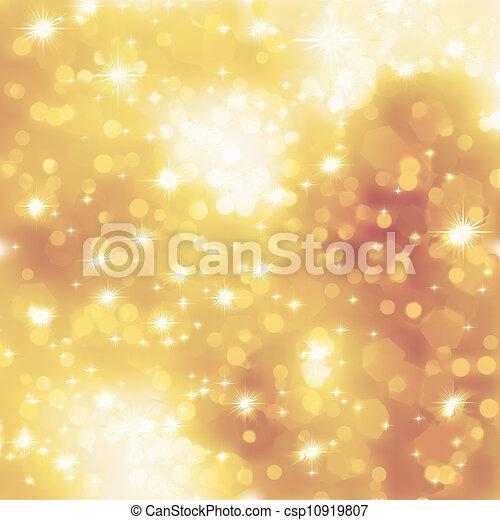 Glittery gold Christmas background. EPS 8 - csp10919807