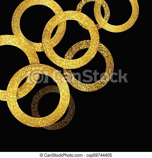 glittery gold circles background 1307 - csp59744405