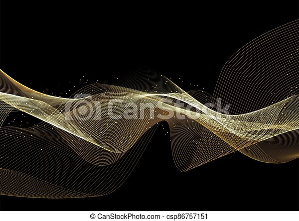 glittery gold waves background 2910 - csp86757151