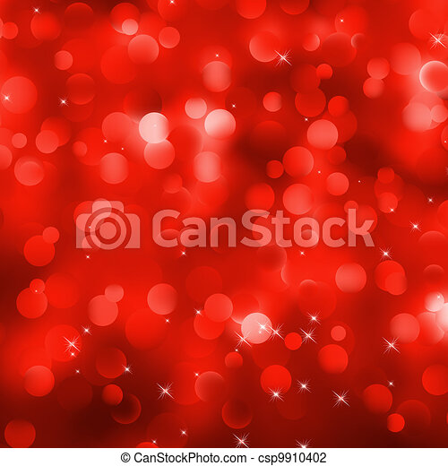 Glittery red Christmas background. EPS 8 - csp9910402