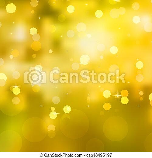 Glittery yellow Christmas background. EPS 10 - csp18495197