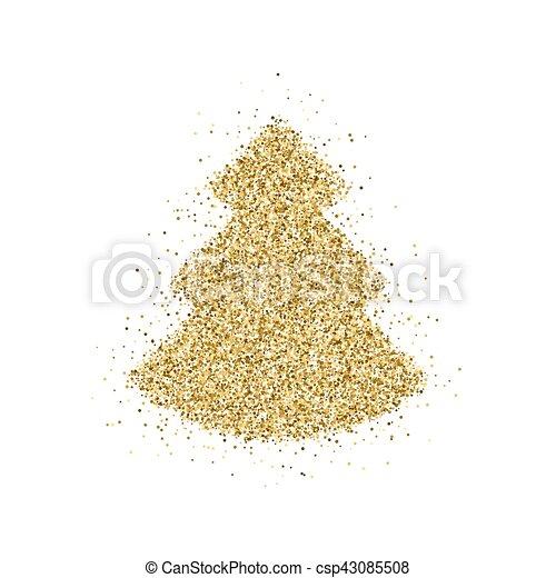 Begriffe Weihnachten.Glitzer Baum Weihnachten Gold