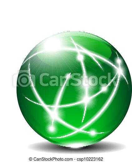glob, boll, grön, kommunikation - csp10223162