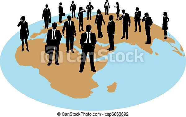 globaal, kracht, zakenlui, werken, middelen - csp6663692