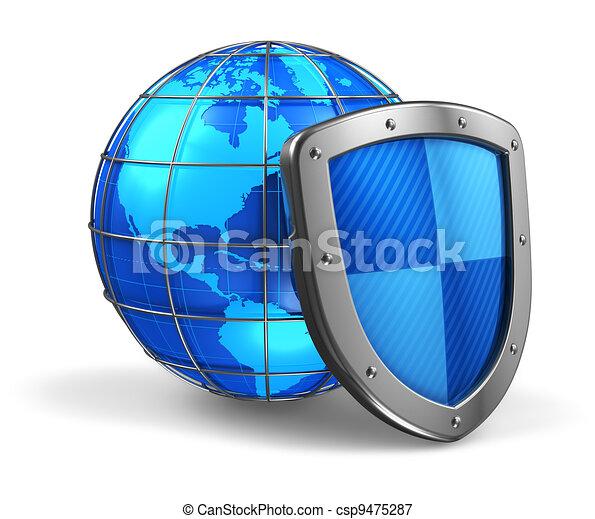 globaal, veiligheid, concept, internet - csp9475287