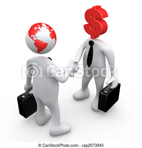 global økonomi - csp2073943