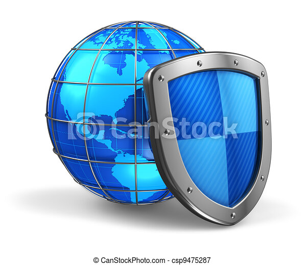 Global and internet security concept - csp9475287