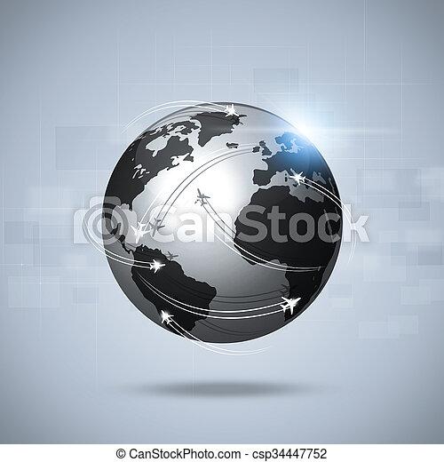 Global Aviation Background - csp34447752