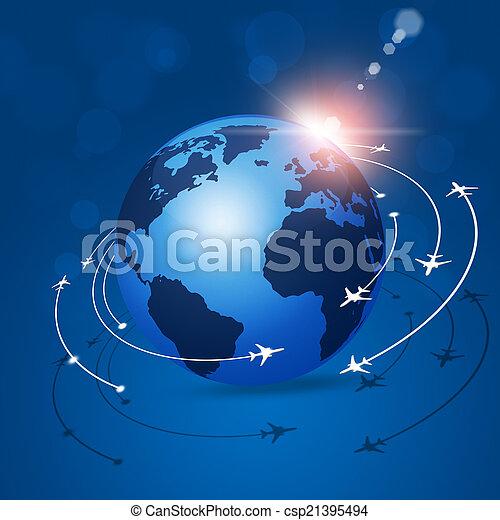 Global Aviation Background - csp21395494