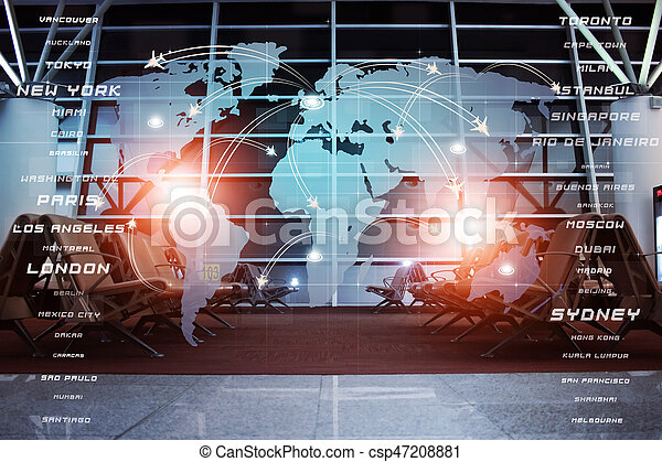 Global Aviation Business Background - csp47208881