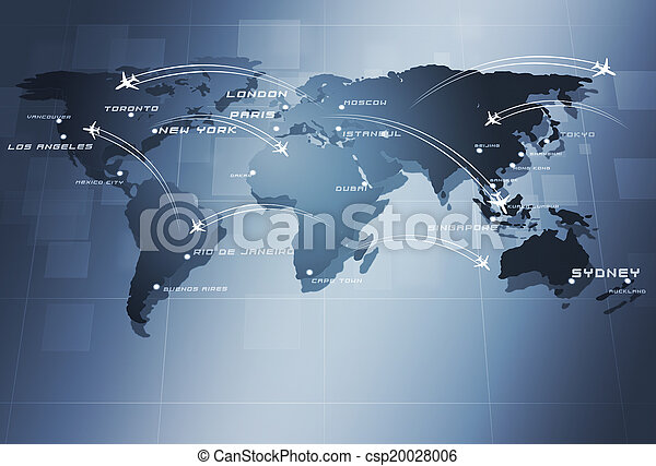 Global Aviation Business Background - csp20028006