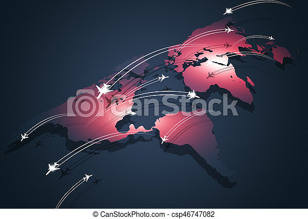 Global Aviation Concept Business Background - csp46747082
