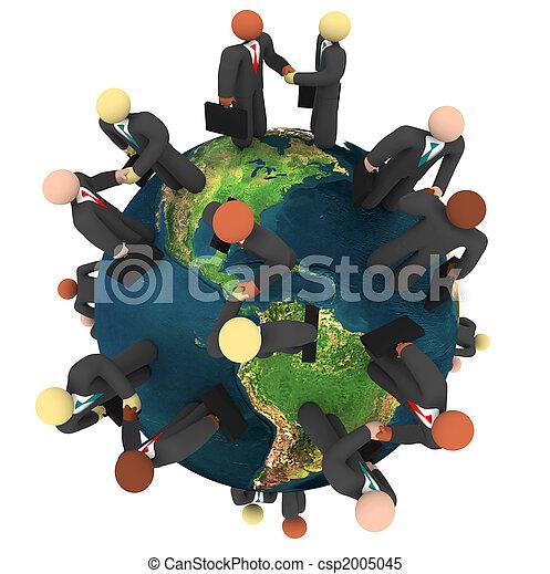 Global Business Deals - International Handshakes - csp2005045