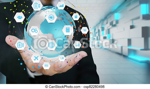Global business network. Business communication - csp82280498