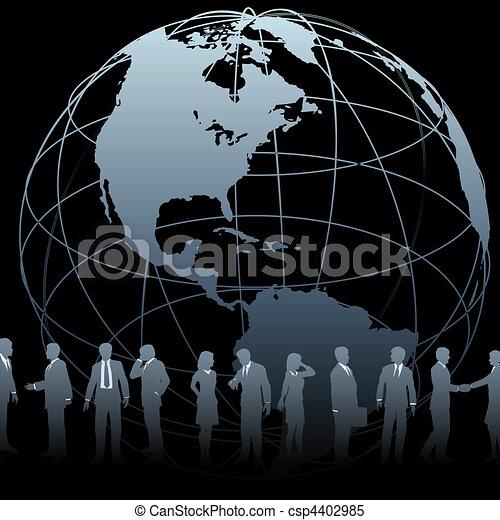 Global Business People Earth Globe - csp4402985
