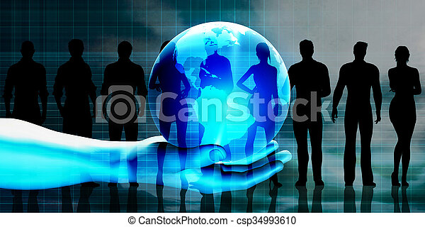 Global Business Team - csp34993610