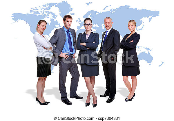 Global business team - csp7304331