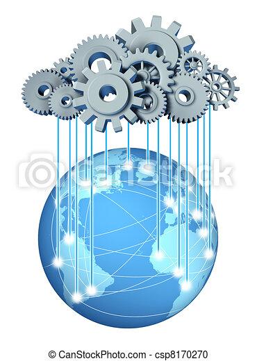Global cloud computing network - csp8170270