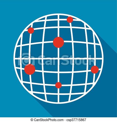 Global communication icon, flat style - csp37715867