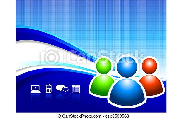 Global Communication internet background - csp3500563