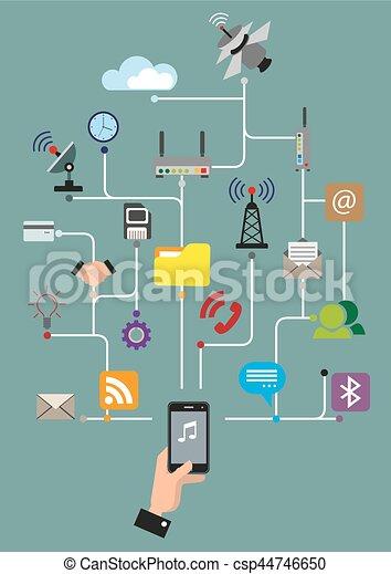 Global communications - csp44746650