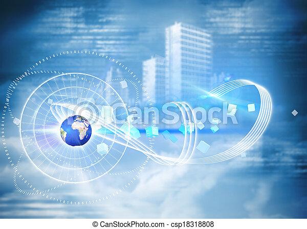 global, composite, technologie, fond, image - csp18318808
