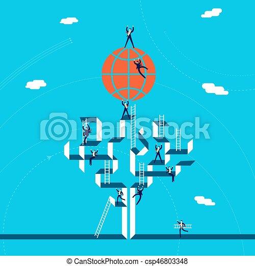 global, conceito, negócio, sucesso, ilustração - csp46803348