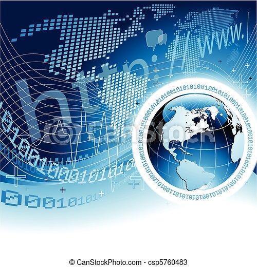 global, concept, réseau - csp5760483