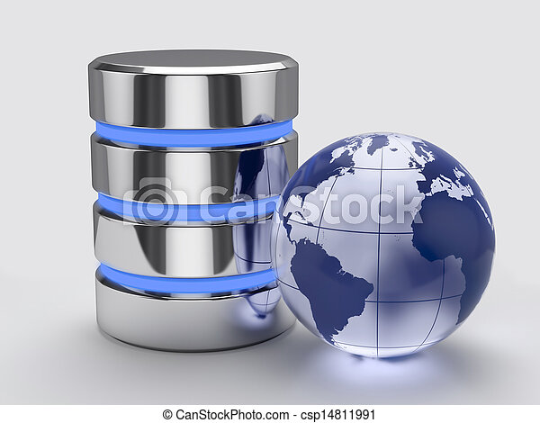 global, concept, stockage - csp14811991