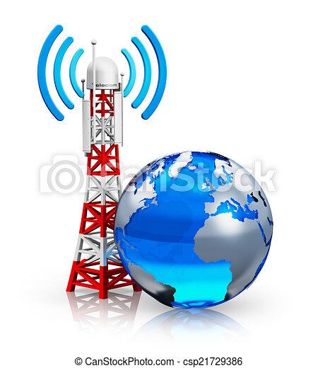global, concept, télécommunications - csp21729386