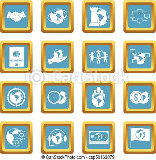 Global connections icons azure - csp50163079