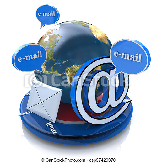 Global E Mail Email Concept Word Email With Envelope In Stock