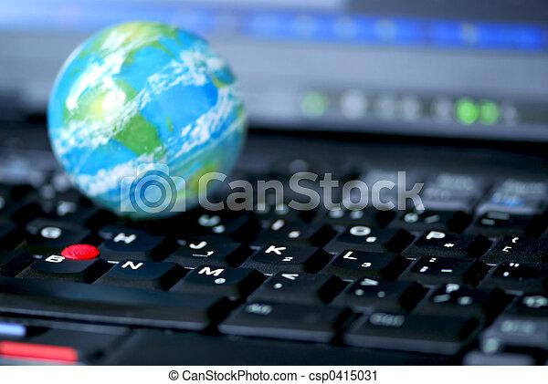 global, edv, geschaeftswelt, internet - csp0415031