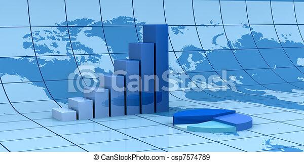 global, finanzielle analyse - csp7574789