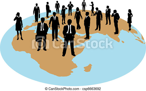 global, força, pessoas negócio, trabalho, recursos - csp6663692