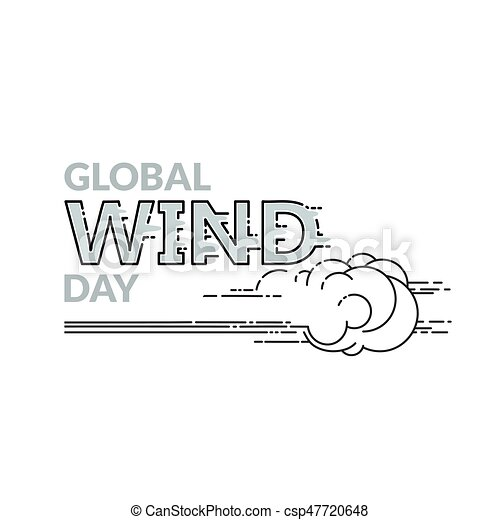 global, freigestellt, abbildung, vektor, weißes, tag, wind - csp47720648