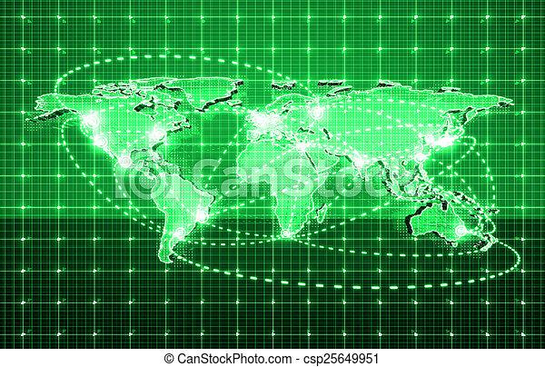 global, futuro, tecnologia - csp25649951