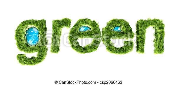 global green environmental protection concept csp2066463
