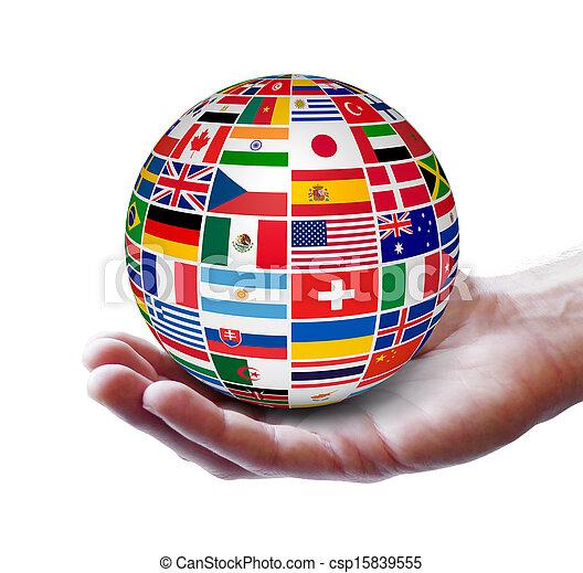 Un concepto internacional de negocios global - csp15839555