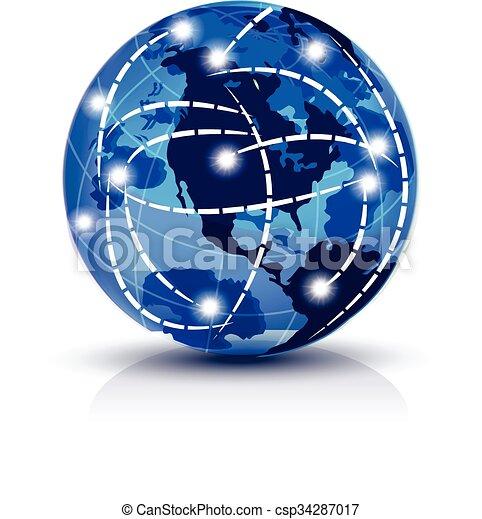 Global internet business logo vector world map global vector global internet business logo csp34287017 gumiabroncs Choice Image