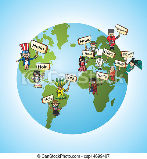 Global languages translate concept - csp14699407
