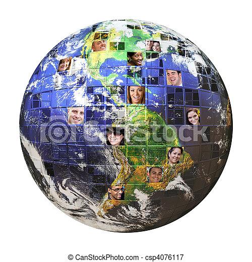 Globales Netzwerk von Menschen - csp4076117