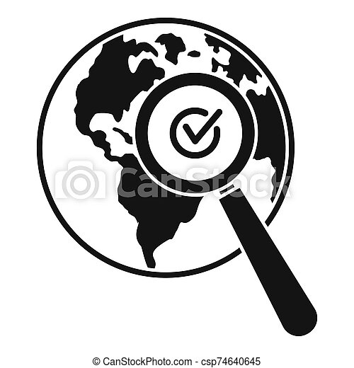 Global market search icon, simple style - csp74640645