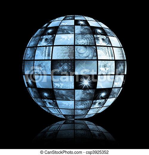 Global Media Technology World Sphere - csp3925352