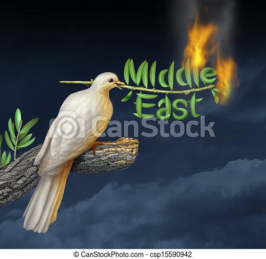 Global Middle East Crisis - csp15590942