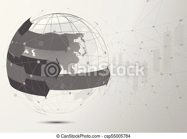 Drawing Lines In Mappoint : Global network connection world map point and line vector